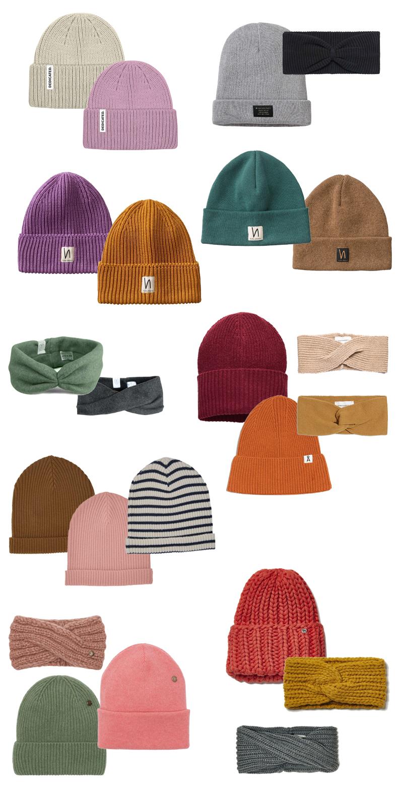 Fair Fashion Accessoires für Herbst und Winter - Mützen und Stirnbänder