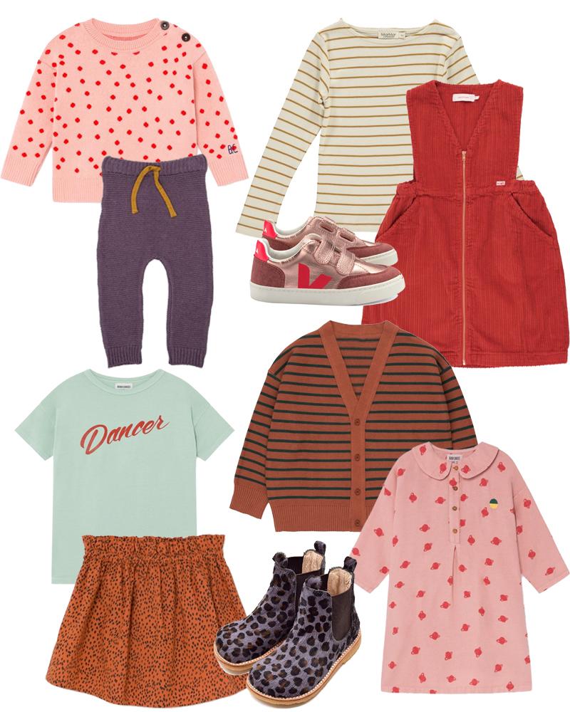 Kids Style vom Winter Richtung Frühling. Mit Neuheiten und Sale Perlen, Bobo Choses, Tinycottons, Monkind