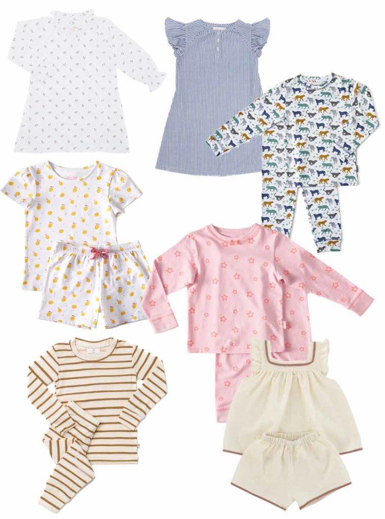 Romantische und farbenfrohe Schlafanzüge und Nachthemden für Kinder