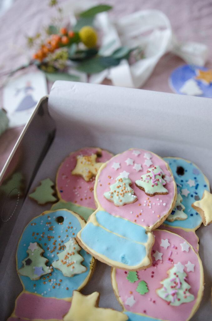 Schneekugel-Kekse
