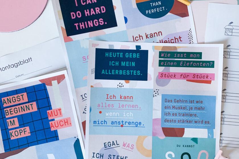 Motivationskarten für Kinder - Free Printable Motivationskarten