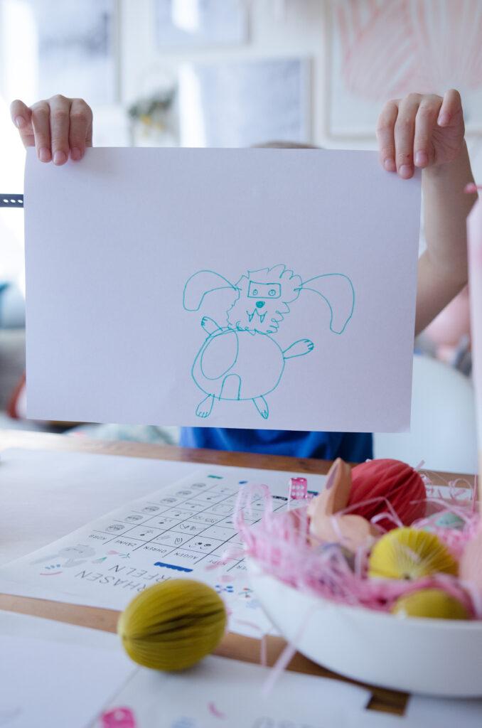 Verrückte Osterhasen malen mit Kindern - easy peasy mit diesem Free Printable